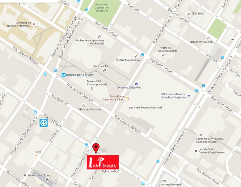 Las Piernas - Situation géographique